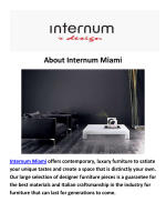 Internum Furniture Design in District Miami