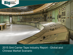 2015 Smt Carrier Tape Industry Report - Global and Chinese Market Scenario