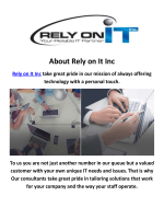 Rely on It Consultants Bay Area
