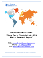 Global Ferric Citrate Market 2016:Industry Trends and Analysis
