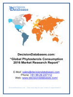Global Phytosterols Consumption Industry- Size, Share and Market Forecasts 2021