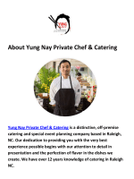Catering in Raleigh NC By Yung Nay Private Chef & Catering