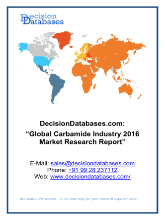 Carbamide Industry 2016 : Global Market Outlook