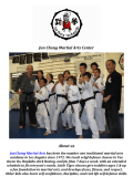 Instructors At Jun Chong Martial Arts Center Los Angeles