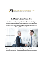 B. Chacon Associates Inc : Accountants In Ontario