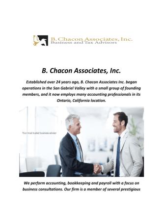 B. Chacon Associates Inc : Accountants In Ontario