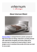 Internum Interior Design in Miami