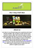 The 5-Day FAST Diet: 5:2 diet ( 201-569-2900 )