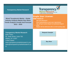 Mixed Tocopherols Market - Global Industry Analysis Market ,Growth ,Forecast up to 2019