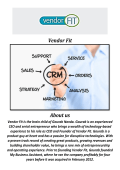 Vendor Fit: TOP CRM Software Systems