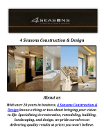 4 Seasons Home Construction & Design Company in Agoura Hills, CA