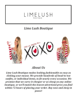 Lime Lush Boutique Online Shopping ( 747-200-5463 )