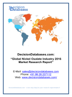 Global Nickel Oxalate Industry 2016 Market Research Report