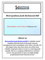 Metropolitan Junk Garbage Removal Richmond Hill, ON
