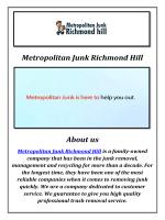 Metropolitan Junk Garbage Removal Richmond Hill, ON