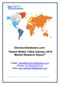 Global Walkie Talkie Industry 2016 Market Research Report
