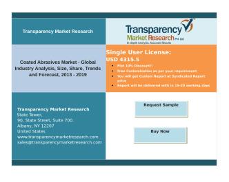 Coated Abrasives Market - Global Industry Analysis, Forecast, 2013 – 2019