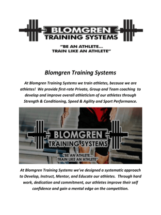 Blomgren Athlete Training Systems In Doylestown, PA