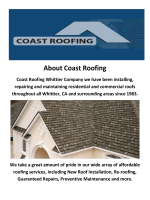 Coast Roofing - Roofers Whittier