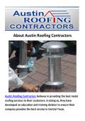 Austin Roofing Contractors - Metal Roof in Austin