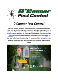O'Connor Pest Control In Dublin