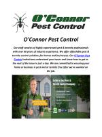 O'Connor Pest Control In Dublin