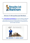 Metropolitan Junk Removal in Markham, ON