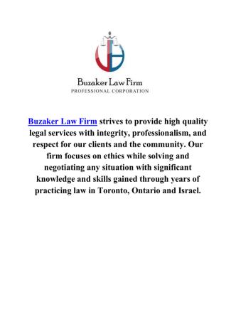 Buzaker Law Firm Business Lawyers Toronto