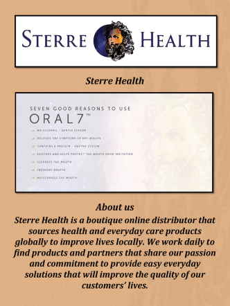 Buy Dry Mouth Treatment Products At Sterre Health