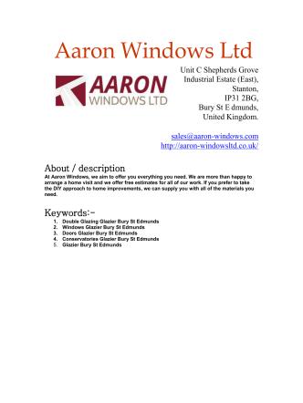 Aaron Windows Ltd