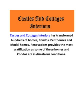 Castles and Cottages Interior Designer Sarasota FL