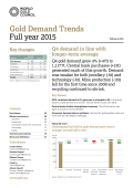 World Gold Council - Gold Demad Trends 2015