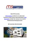MS Caravaning : Adria Reisemobile