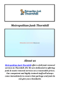 Metropolitan Junk & Waste Removal Thornhill