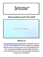 Metropolitan Junk & Waste Removal Thornhill