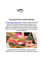 Yung Nay Private Chef & Catering : Sushi Raleigh In NC