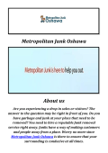 Metropolitan Junk & trash removal Oshawa