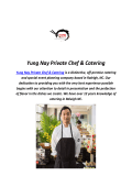 Yung Nay Private Chef & Catering : Sushi In Raleigh