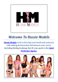 Hussie Models : Adult Performer Agency In Miami, FL