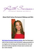 Ruth Swissa Permanent Makeup and Skin - Permanent Eyebrows Los Angeles