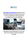 Metropolitan junk removal in winnipeg