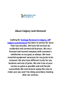 Calgary Junk Removal Garbage Removal Calgary