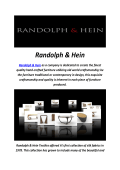 Randolph & Hein : Los Angeles Handmade Furniture Store