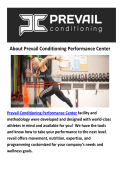Prevail Conditioning Performance Center Gyms Santa Barbara