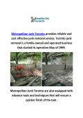 Metropolitan Junk Removal In Toronto