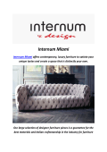 Internum Modern Furniture In Miami