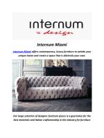 Internum Modern Furniture In Miami