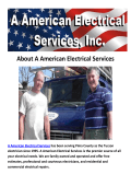 A American Electrical Services - Electrician Tucson