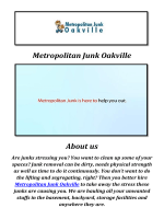 Metropolitan Junk Removal in Oakville, ON