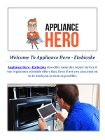 Appliance Hero - Microwave Repair in Etobicoke, ON